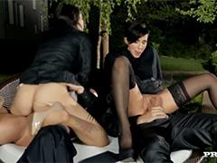 Групповой секс гламурной компании